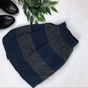 BCBGeneration Striped Skirt in Blue and Gray